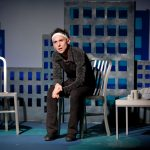 Nick Cearley in the 2010 Luna Stage production of And Then I Wrote A Song About It (photo by Steven Lawler).