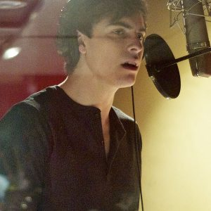 Pictured: Derek Klena, recording the role of Orlando in the Like You Like It Studio RADcording (photo by Rebecca Woodman Taylor).