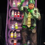 George Salazar in the Vital Theatre production of The Frog & The Witch.