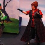 George Salazar and Angela Dirksen in the Vital Theatre production of The Frog & The Witch.