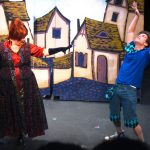 Angela Dirksen and Jeff Barba in the Vital Theatre production of The Frog & The Witch.