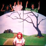 Monique Beasley, Rebecca Stavis, Jeff Barba and Caitlin Mesiano in the Vital Theatre production of The Frog & The Witch.