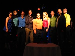 The cast and crew of The 7-Year B*tch: Becca Ayers, Joanna Young, David Perlman, Sammy Buck, Dan Acquisto, Amy Rutberg, James Donegan, Carlos Armesto and Brian Cimmet.