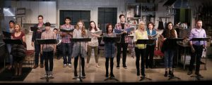 The cast of Small Town Story at the November, 2014 reading at Playwrights Horizons (photo by Michael Bonasio).