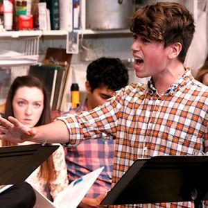 Pictured: Noah Galvin in the 2014 reading at the Peter Jay Sharp Theatre at Playwrights Horizons (photo by Michael Bonasio).