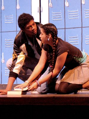 Pictured: Briana Resa & Nkrumah Gatling in the Theatre Under The Stars/Sam Houston State University production (photo by Judy Moyes).